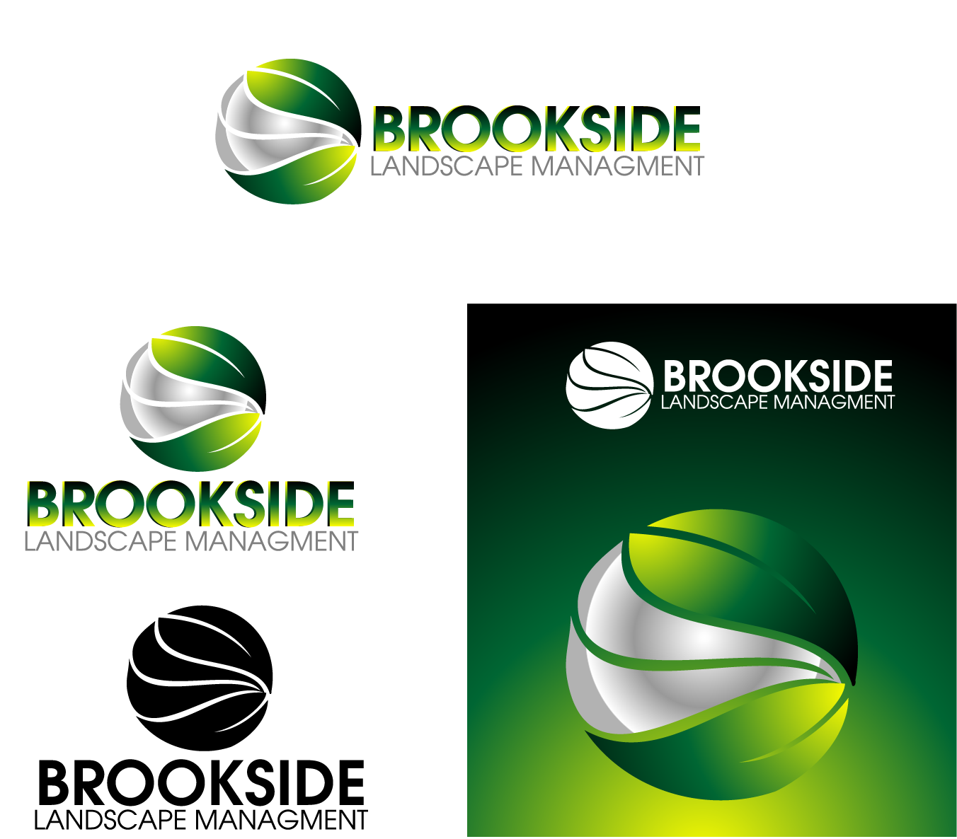 Logo Design by Private User - Entry No. 130 in the Logo Design Contest New Logo Design for Brookside Landscape Management.