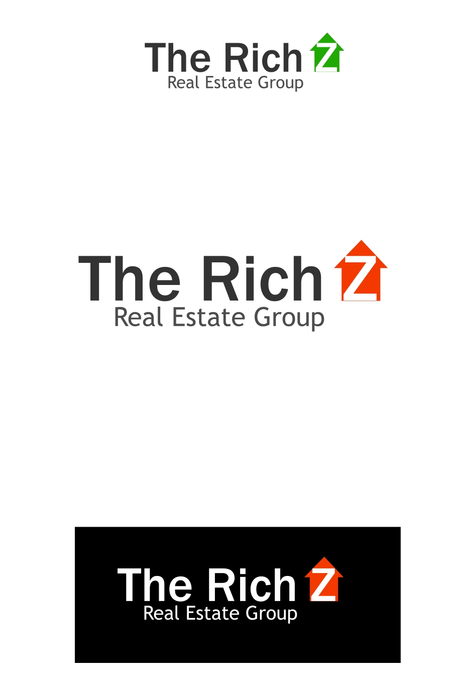 Logo Design by Private User - Entry No. 18 in the Logo Design Contest The Rich Z. Real Estate Group Logo Design.
