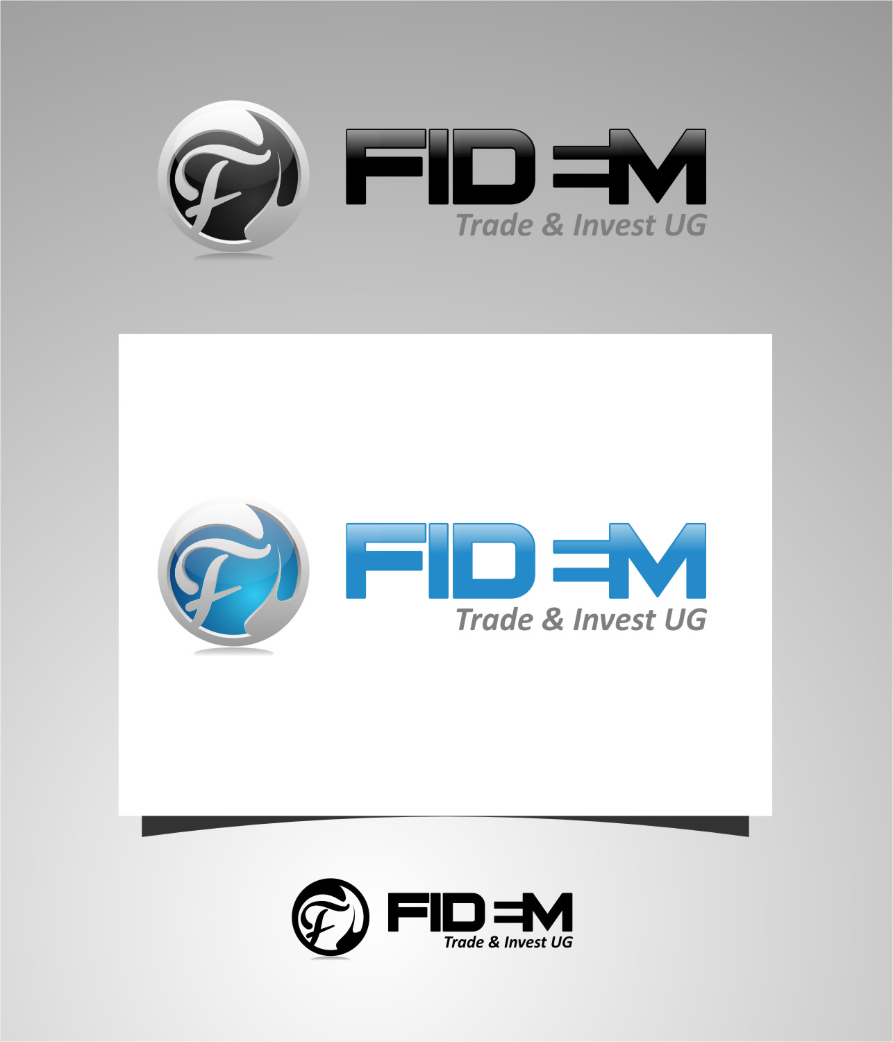 Logo Design by RasYa Muhammad Athaya - Entry No. 505 in the Logo Design Contest Professional Logo Design for FIDEM Trade & Invest UG.