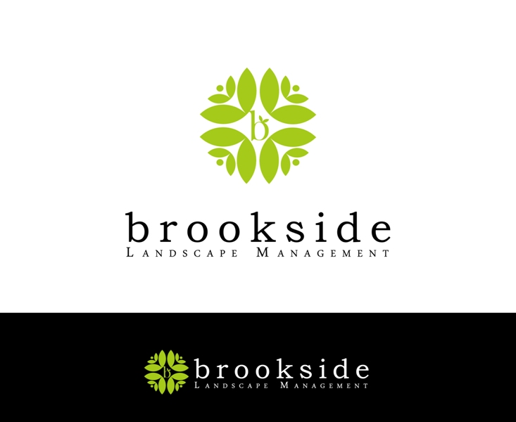 Logo Design by Juan_Kata - Entry No. 135 in the Logo Design Contest New Logo Design for Brookside Landscape Management.