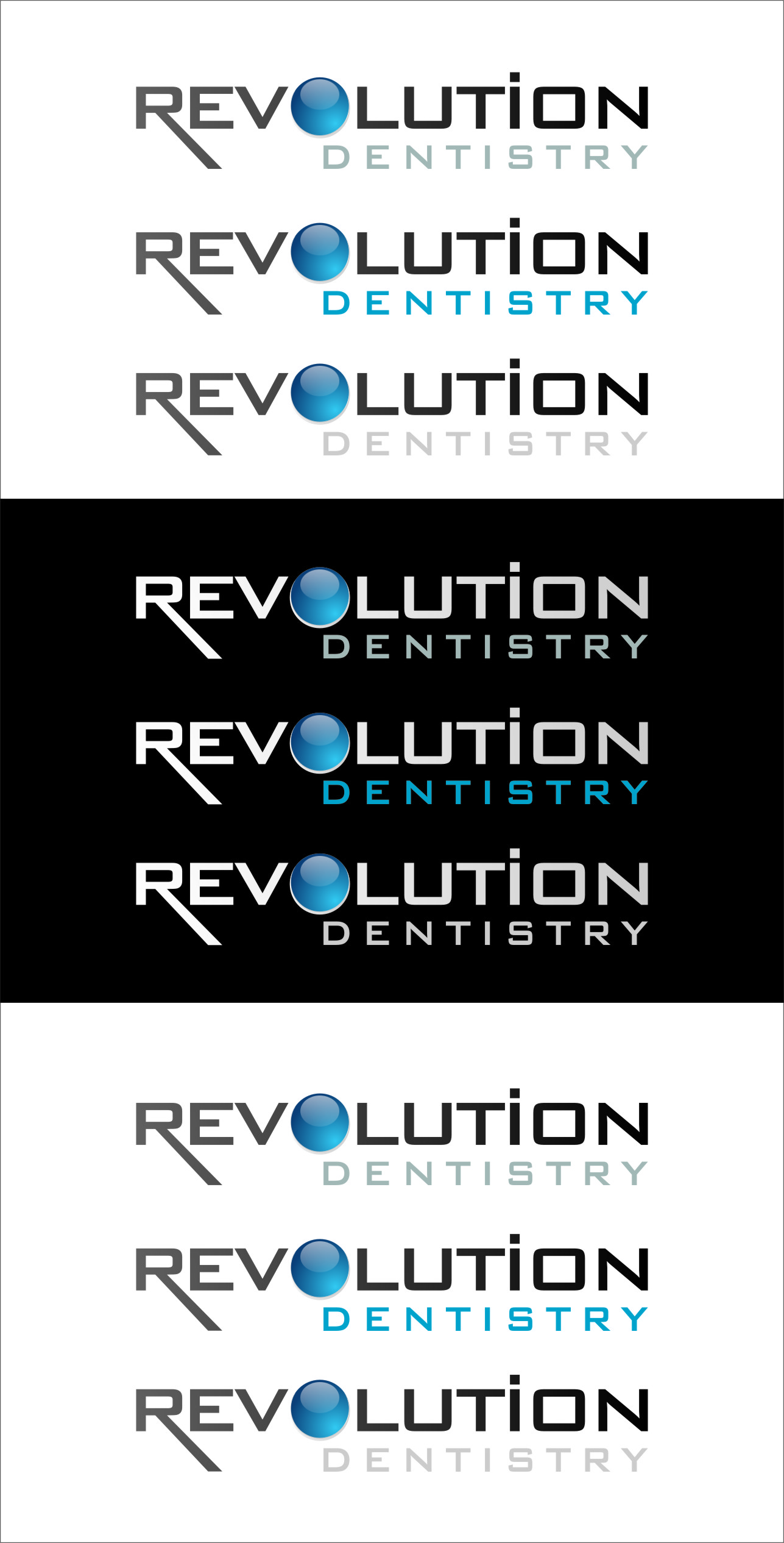 Logo Design by RasYa Muhammad Athaya - Entry No. 278 in the Logo Design Contest Artistic Logo Design for Revolution Dentistry.