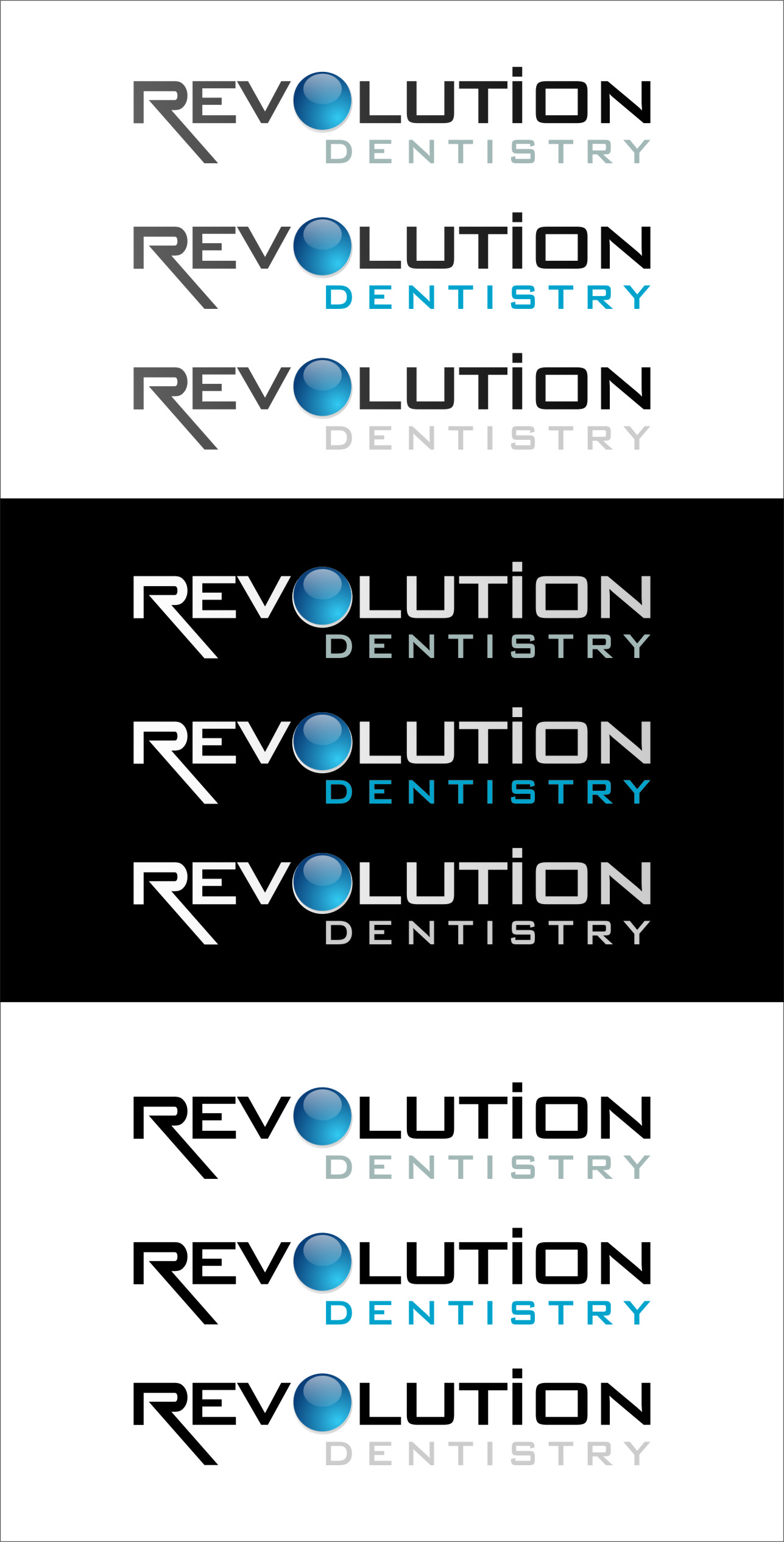 Logo Design by RasYa Muhammad Athaya - Entry No. 279 in the Logo Design Contest Artistic Logo Design for Revolution Dentistry.