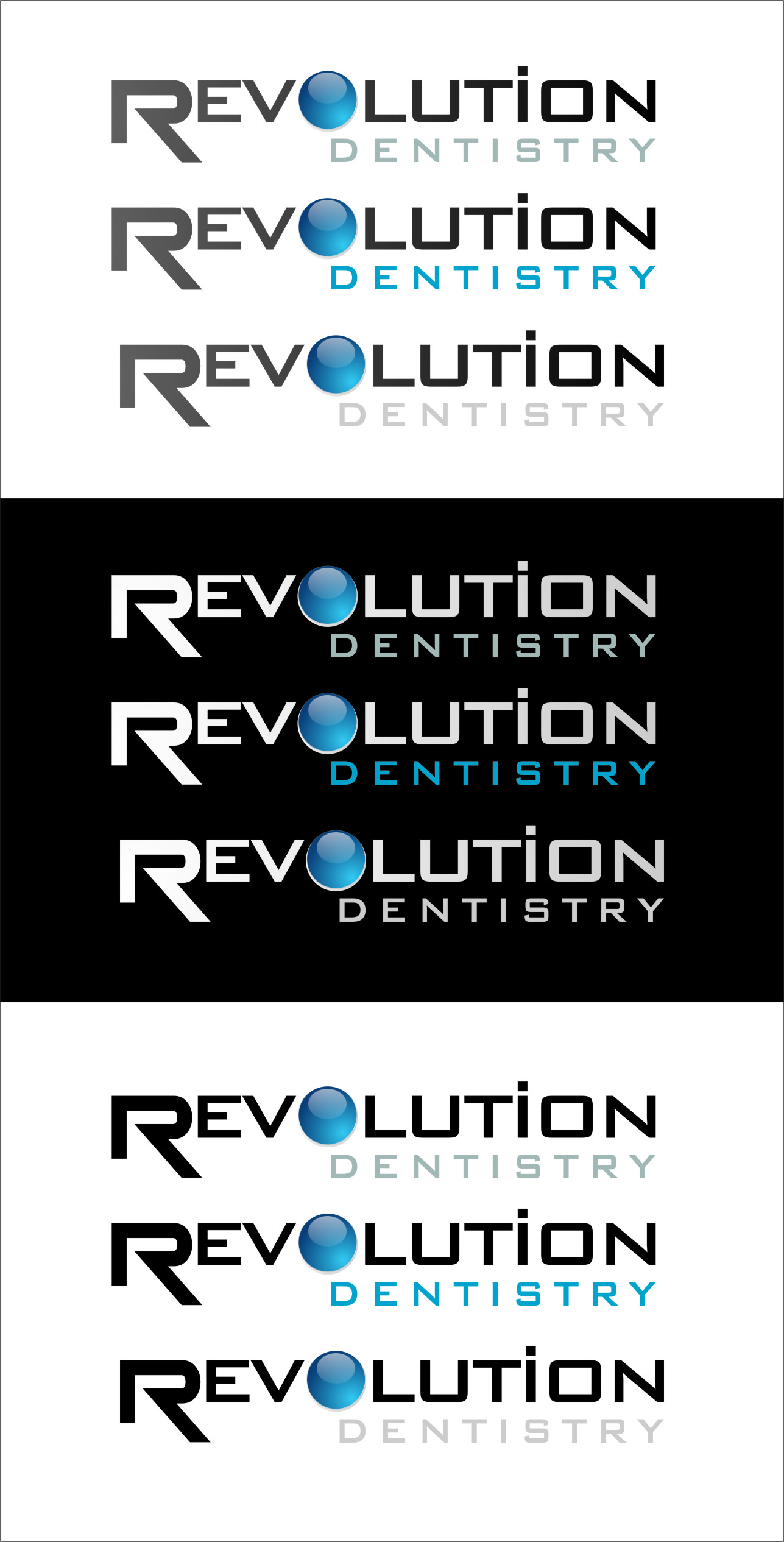 Logo Design by RasYa Muhammad Athaya - Entry No. 282 in the Logo Design Contest Artistic Logo Design for Revolution Dentistry.