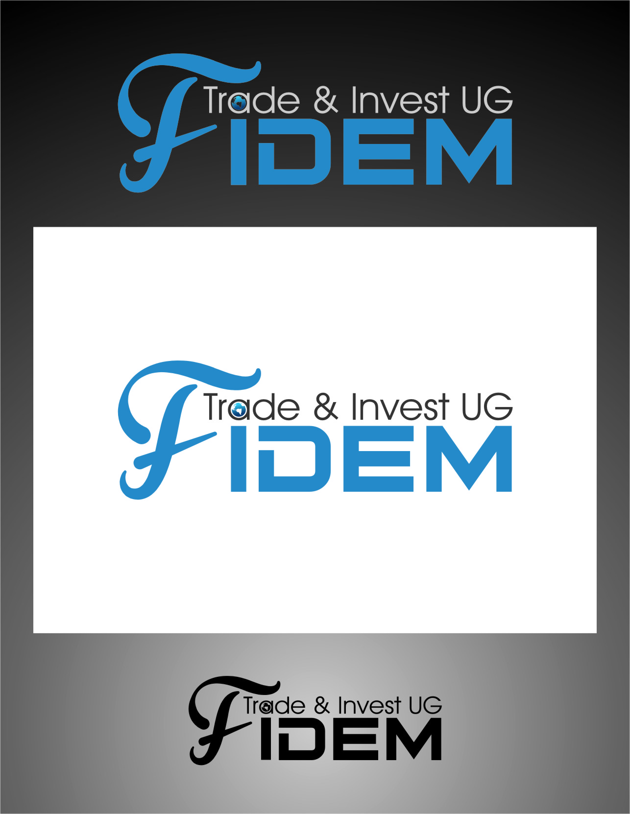 Logo Design by Ngepet_art - Entry No. 524 in the Logo Design Contest Professional Logo Design for FIDEM Trade & Invest UG.