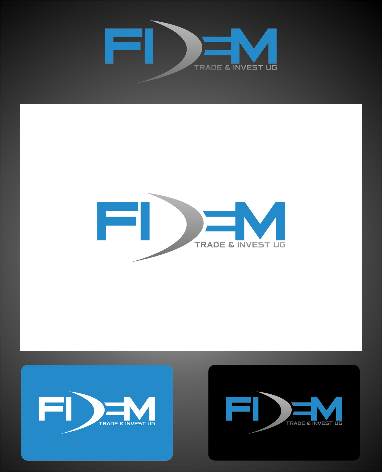 Logo Design by Ngepet_art - Entry No. 530 in the Logo Design Contest Professional Logo Design for FIDEM Trade & Invest UG.