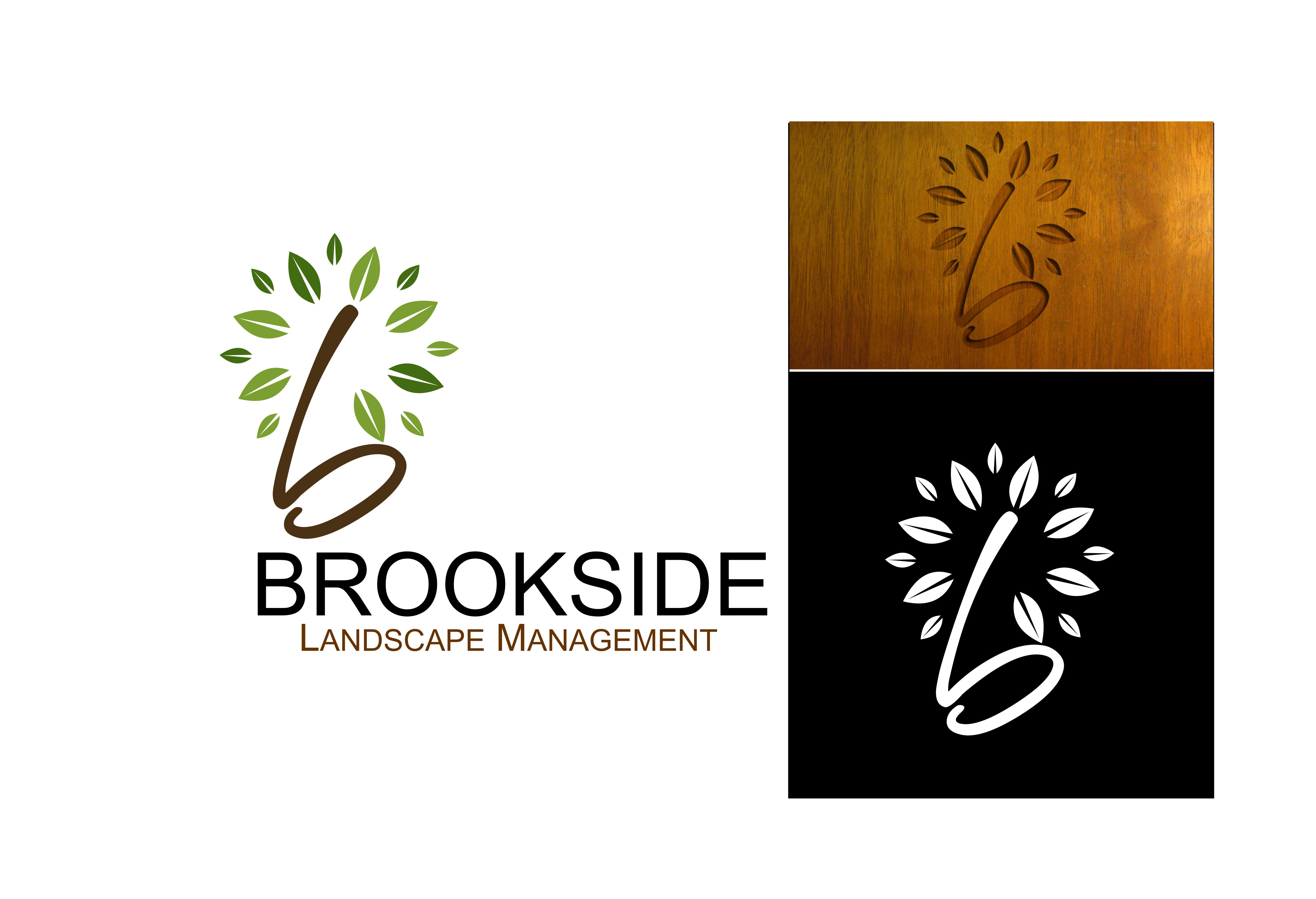 Logo Design by Crispin Jr Vasquez - Entry No. 141 in the Logo Design Contest New Logo Design for Brookside Landscape Management.