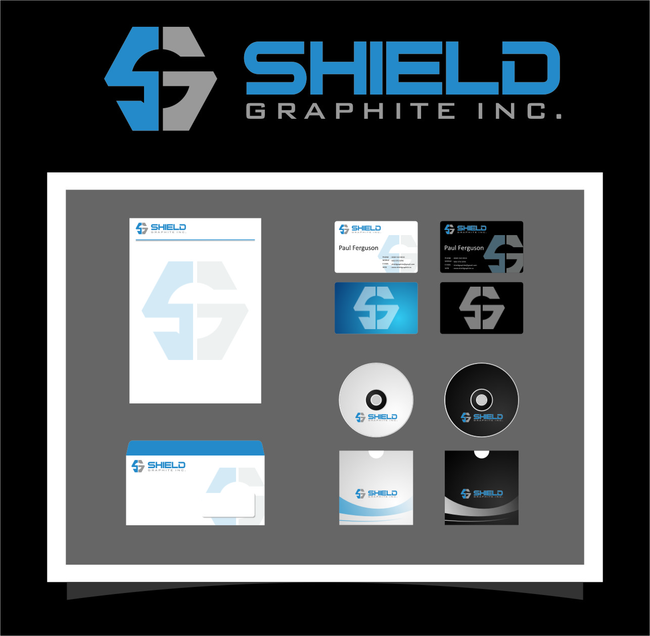 Logo Design by RoSyid Rono-Rene On Java - Entry No. 41 in the Logo Design Contest Imaginative Logo Design for Shield Graphite Inc..