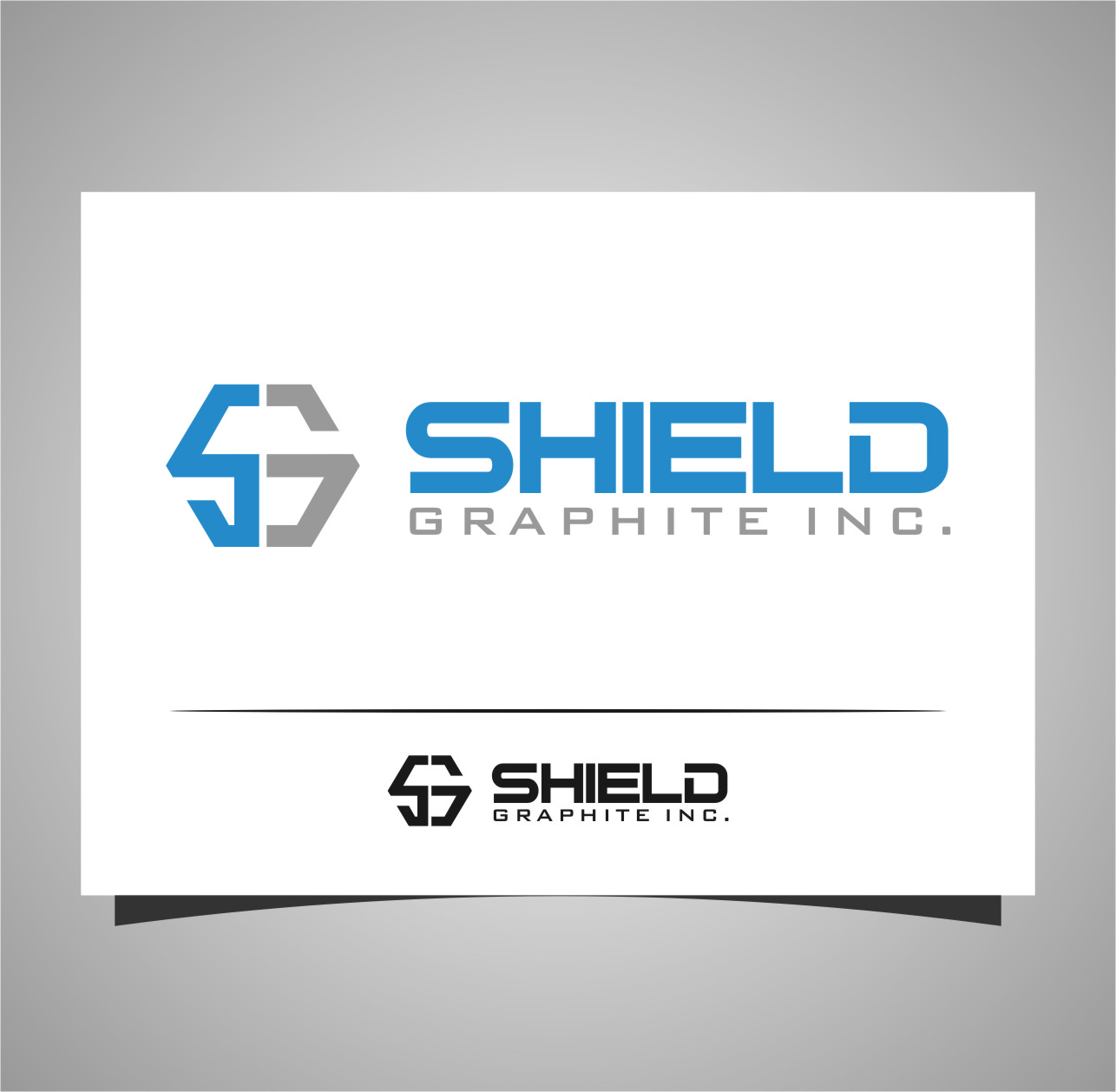 Logo Design by RasYa Muhammad Athaya - Entry No. 42 in the Logo Design Contest Imaginative Logo Design for Shield Graphite Inc..