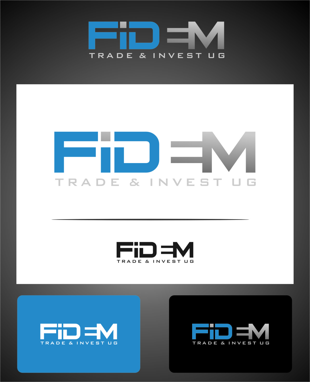 Logo Design by RasYa Muhammad Athaya - Entry No. 581 in the Logo Design Contest Professional Logo Design for FIDEM Trade & Invest UG.
