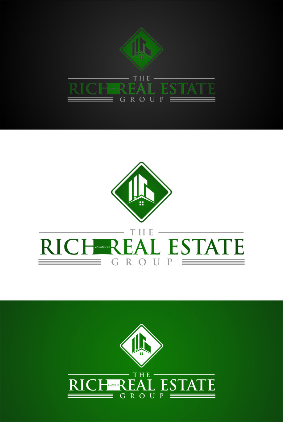 Logo Design by Ngepet_art - Entry No. 45 in the Logo Design Contest The Rich Z. Real Estate Group Logo Design.