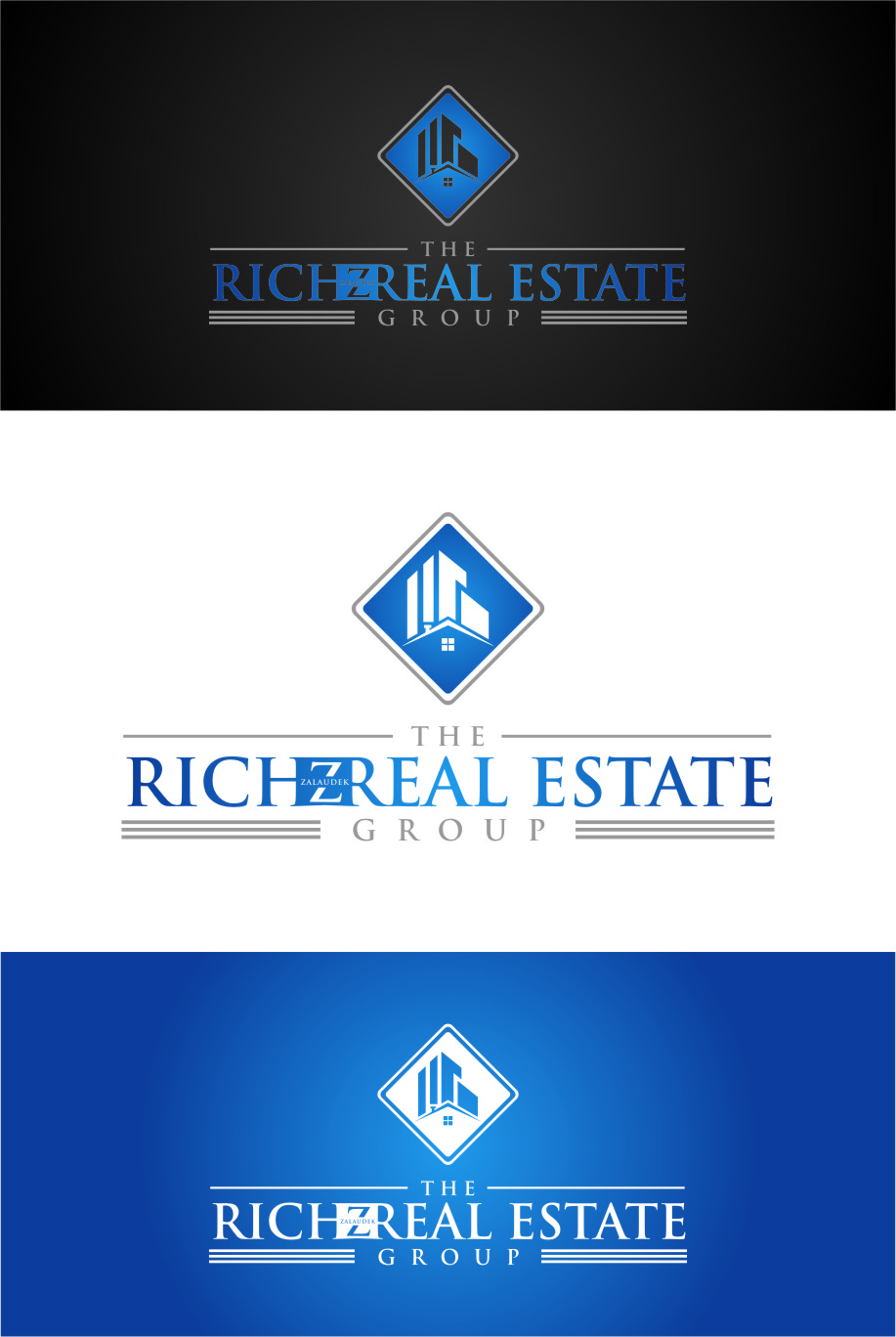 Logo Design by Ngepet_art - Entry No. 47 in the Logo Design Contest The Rich Z. Real Estate Group Logo Design.