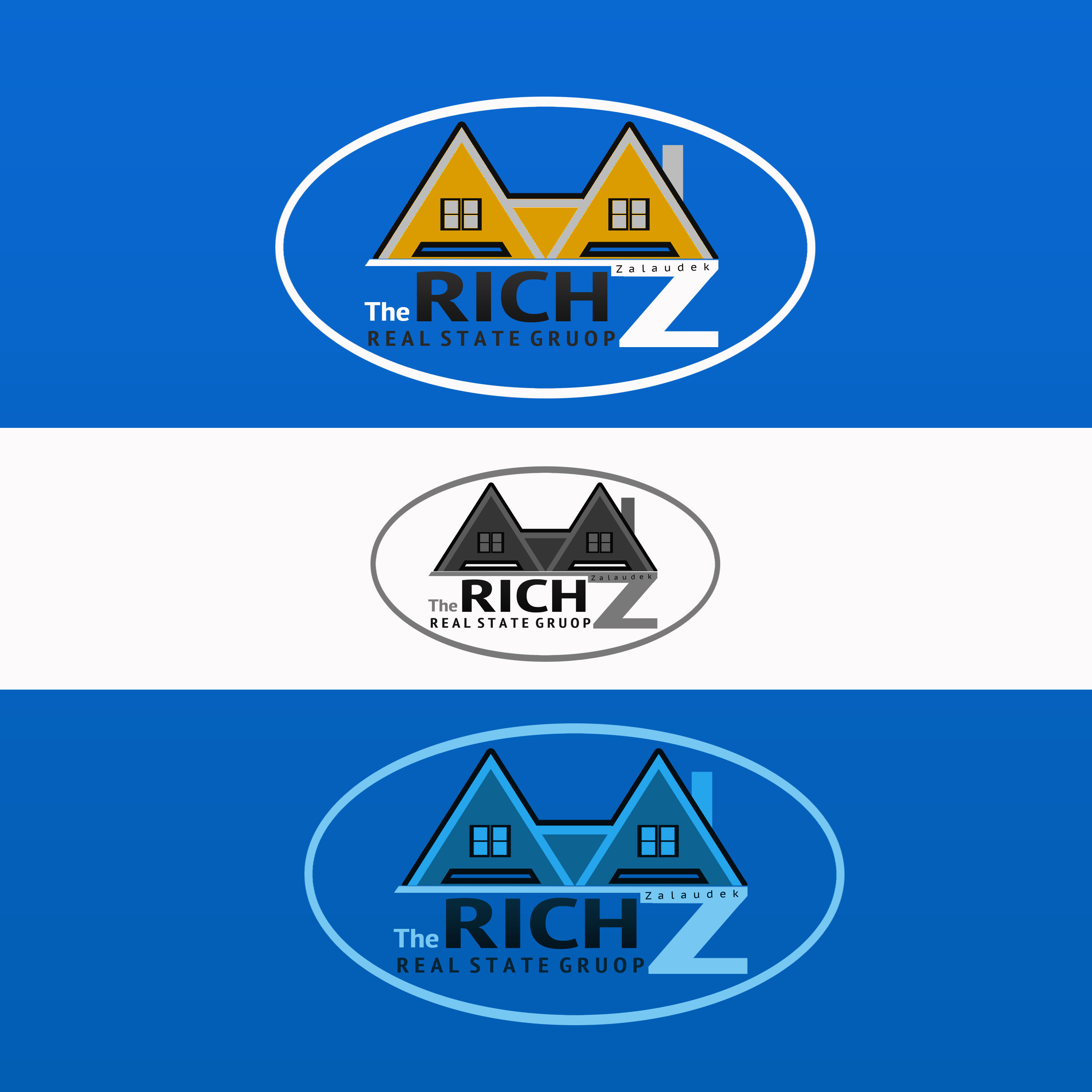 Logo Design by Allan Esclamado - Entry No. 49 in the Logo Design Contest The Rich Z. Real Estate Group Logo Design.
