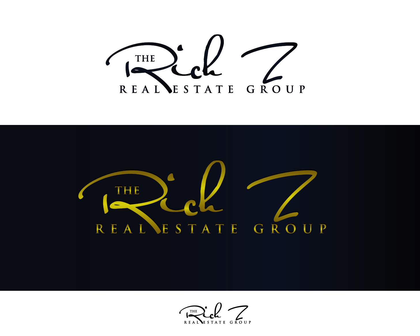 Logo Design by VENTSISLAV KOVACHEV - Entry No. 52 in the Logo Design Contest The Rich Z. Real Estate Group Logo Design.