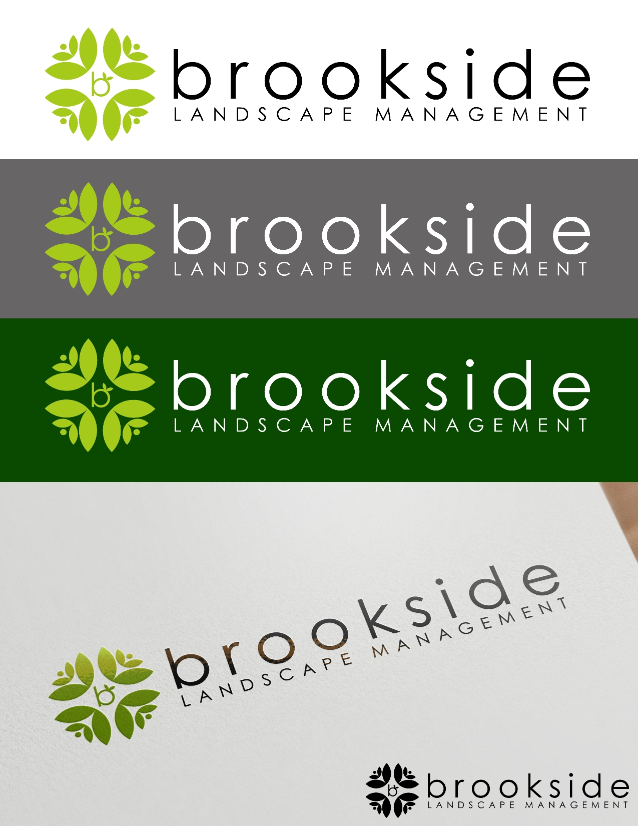 Logo Design by Juan_Kata - Entry No. 148 in the Logo Design Contest New Logo Design for Brookside Landscape Management.