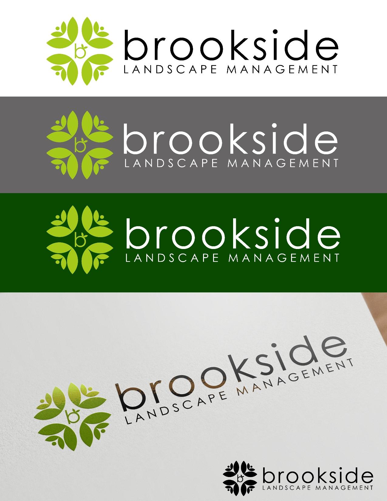 Logo Design by Juan_Kata - Entry No. 151 in the Logo Design Contest New Logo Design for Brookside Landscape Management.