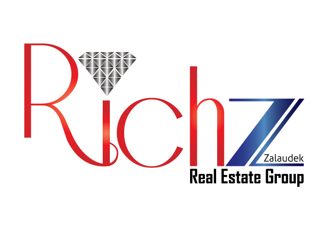 Logo Design by ronik.web - Entry No. 54 in the Logo Design Contest The Rich Z. Real Estate Group Logo Design.