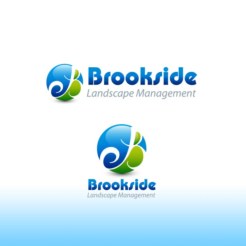 Logo Design by Puspita Wahyuni - Entry No. 152 in the Logo Design Contest New Logo Design for Brookside Landscape Management.