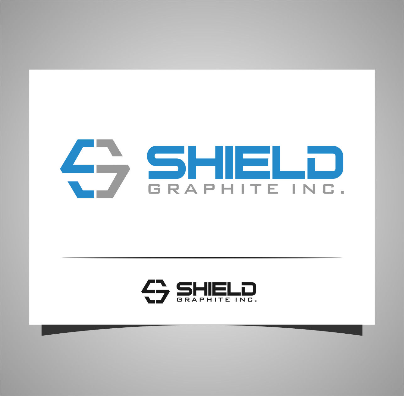 Logo Design by RoSyid Rono-Rene On Java - Entry No. 56 in the Logo Design Contest Imaginative Logo Design for Shield Graphite Inc..