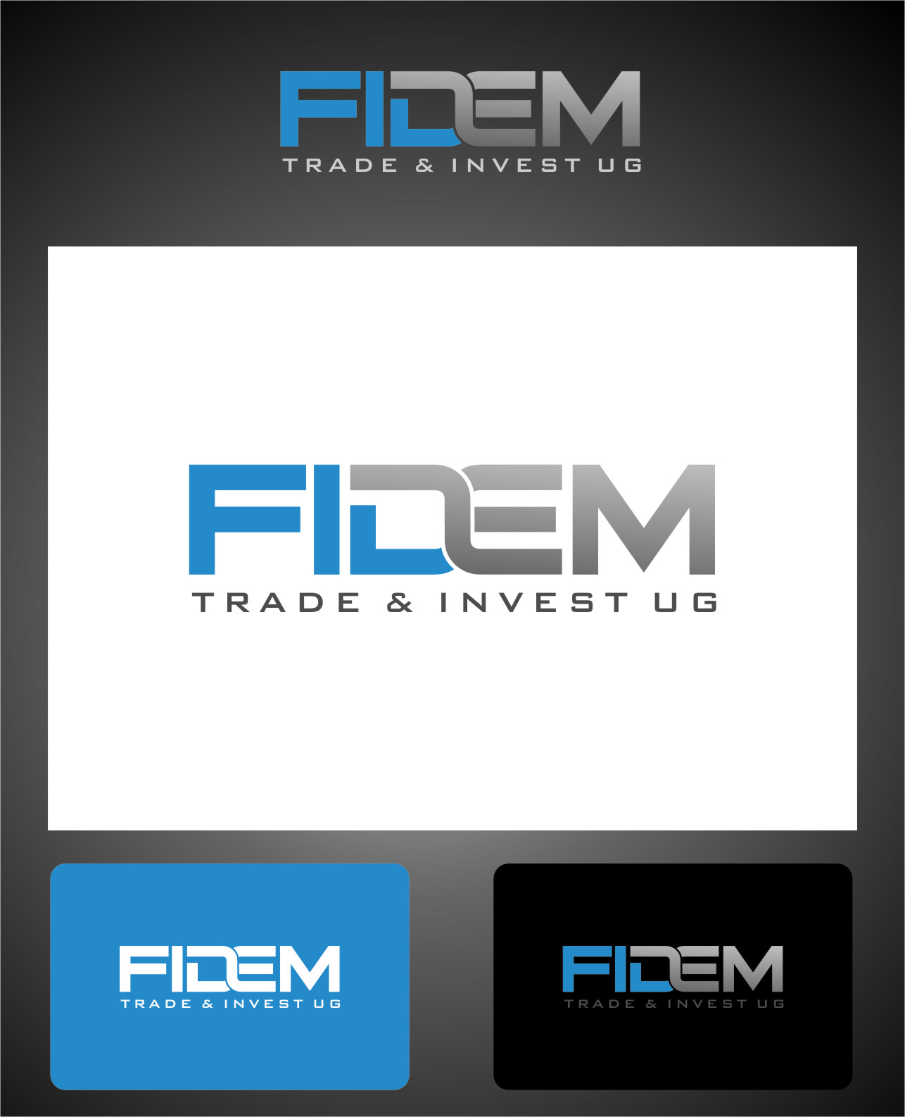 Logo Design by RoSyid Rono-Rene On Java - Entry No. 600 in the Logo Design Contest Professional Logo Design for FIDEM Trade & Invest UG.