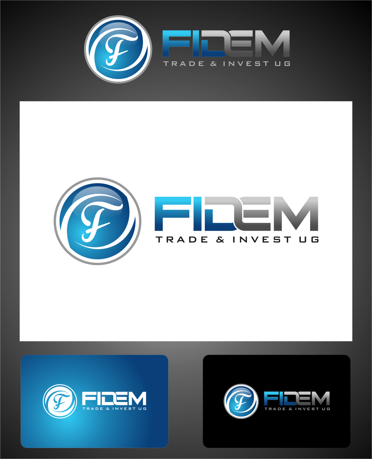 Logo Design by RoSyid Rono-Rene On Java - Entry No. 601 in the Logo Design Contest Professional Logo Design for FIDEM Trade & Invest UG.