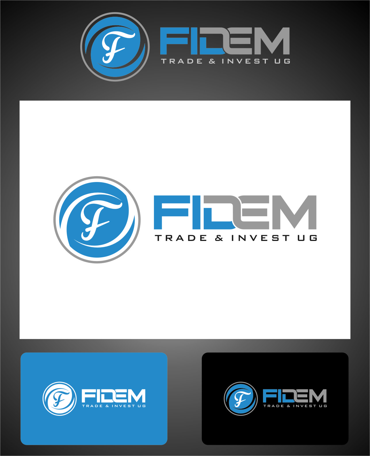 Logo Design by RasYa Muhammad Athaya - Entry No. 602 in the Logo Design Contest Professional Logo Design for FIDEM Trade & Invest UG.