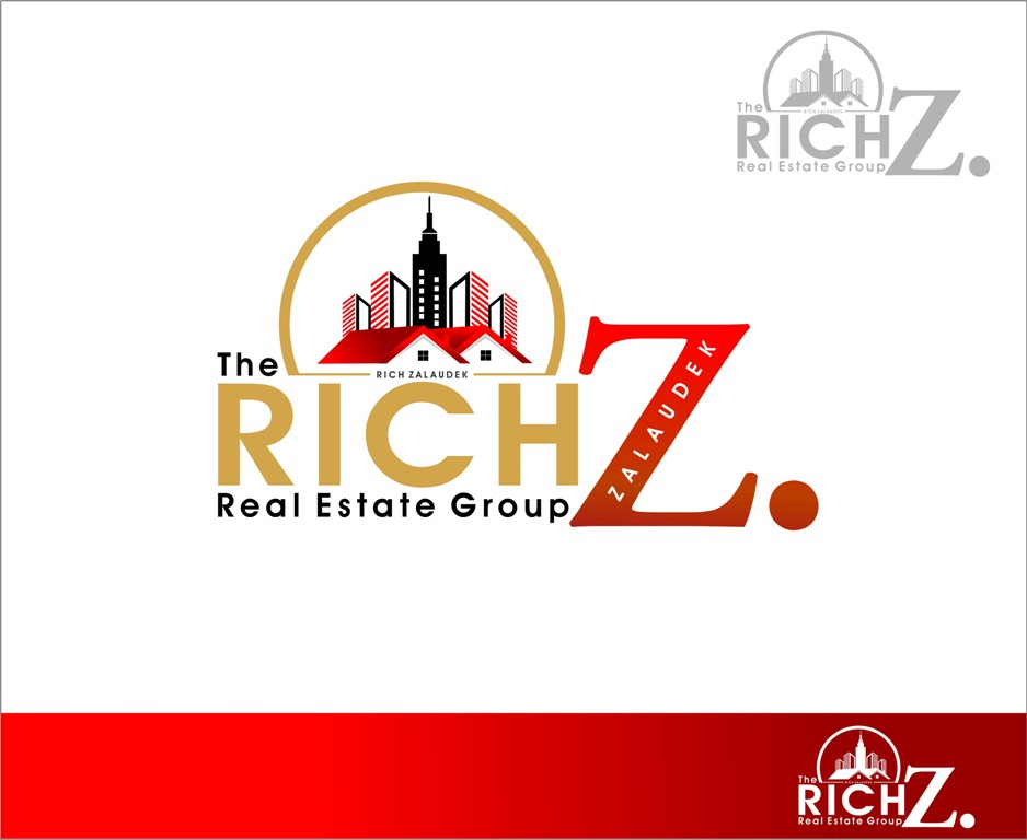 Logo Design by Mhon_Rose - Entry No. 62 in the Logo Design Contest The Rich Z. Real Estate Group Logo Design.