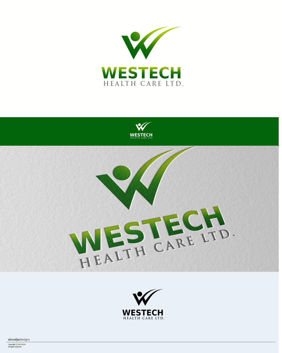 Logo Design by alocelja - Entry No. 3 in the Logo Design Contest Creative Logo Design for Westech Health Care Ltd..