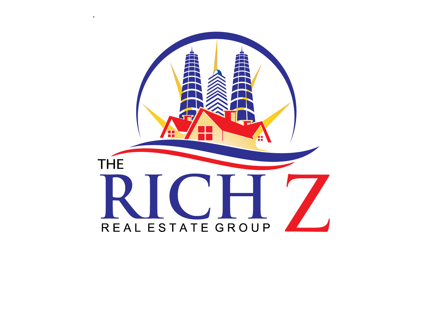 Logo Design by find_finder - Entry No. 75 in the Logo Design Contest The Rich Z. Real Estate Group Logo Design.