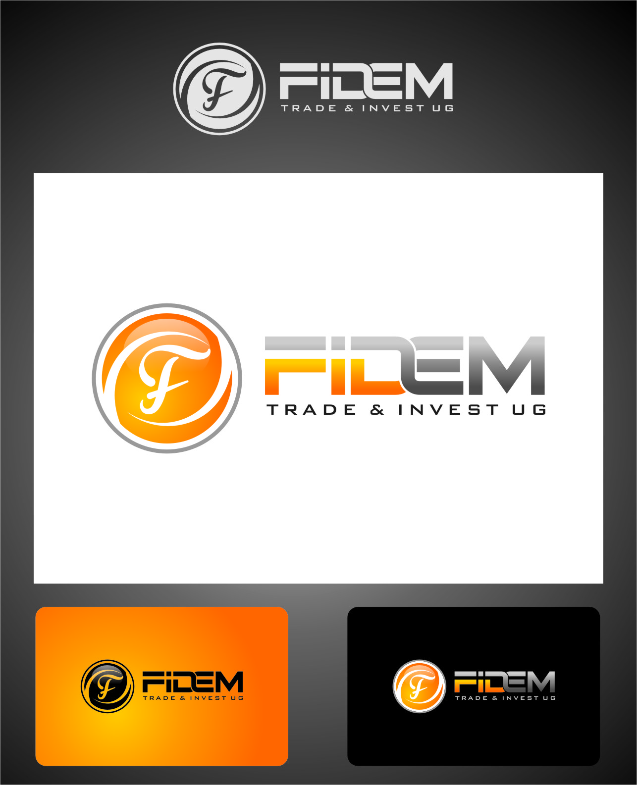 Logo Design by RasYa Muhammad Athaya - Entry No. 626 in the Logo Design Contest Professional Logo Design for FIDEM Trade & Invest UG.