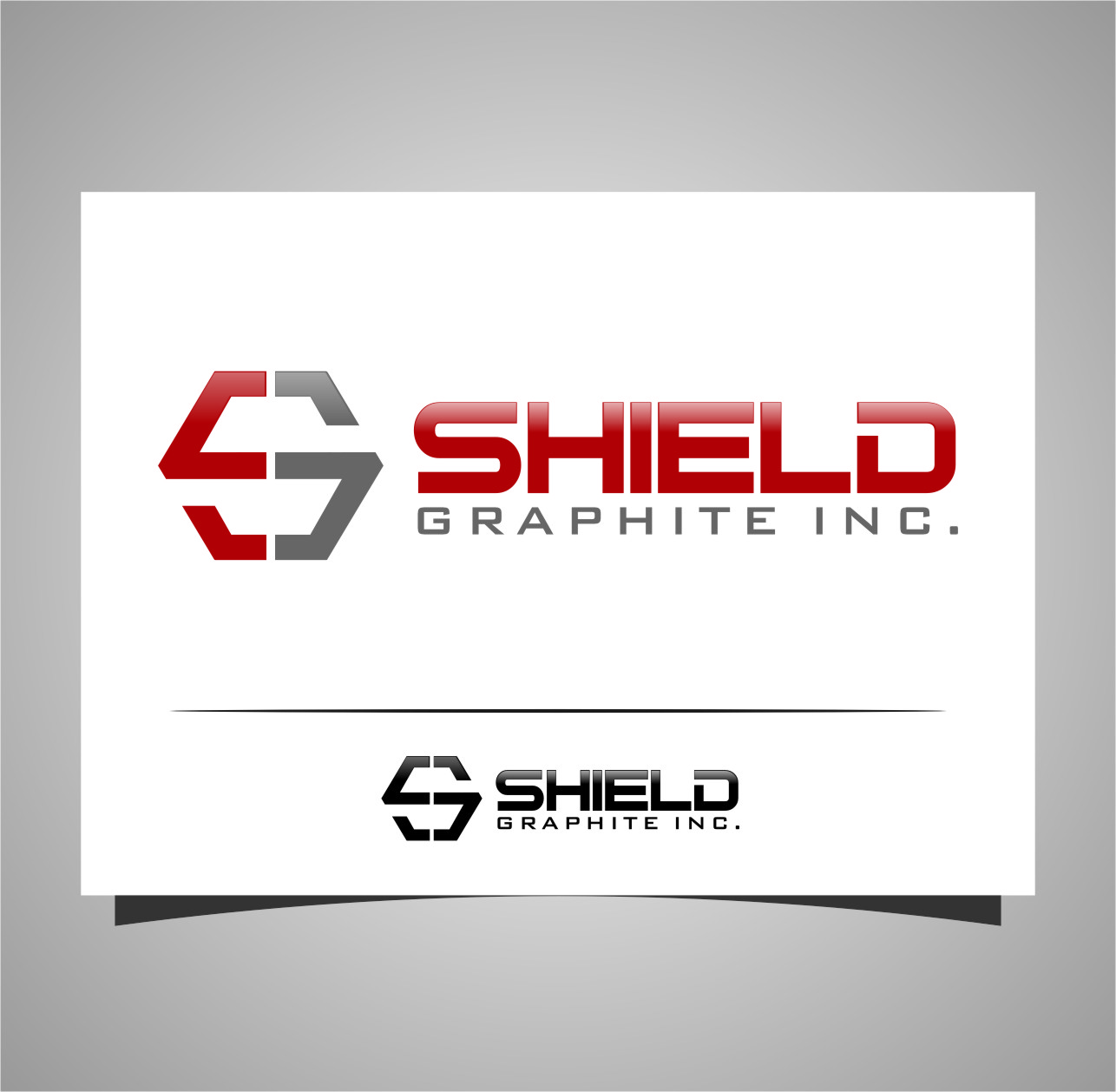 Logo Design by RasYa Muhammad Athaya - Entry No. 97 in the Logo Design Contest Imaginative Logo Design for Shield Graphite Inc..