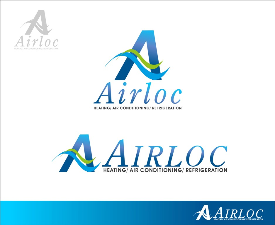 Logo Design by Mhon_Rose - Entry No. 22 in the Logo Design Contest Airloc Logo Design.