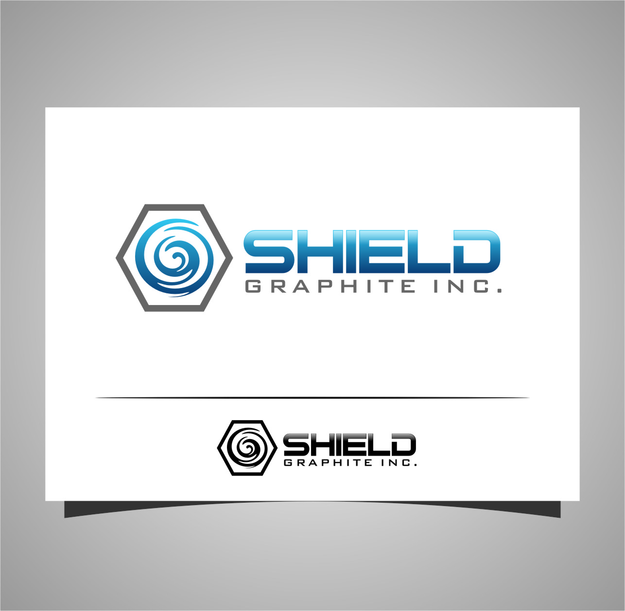 Logo Design by RasYa Muhammad Athaya - Entry No. 98 in the Logo Design Contest Imaginative Logo Design for Shield Graphite Inc..