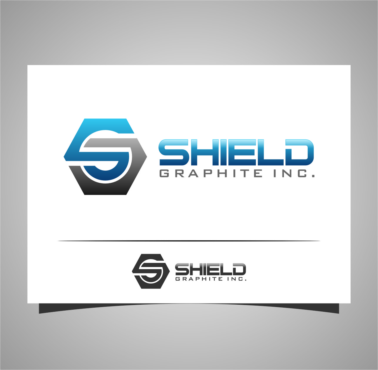 Logo Design by Ngepet_art - Entry No. 100 in the Logo Design Contest Imaginative Logo Design for Shield Graphite Inc..