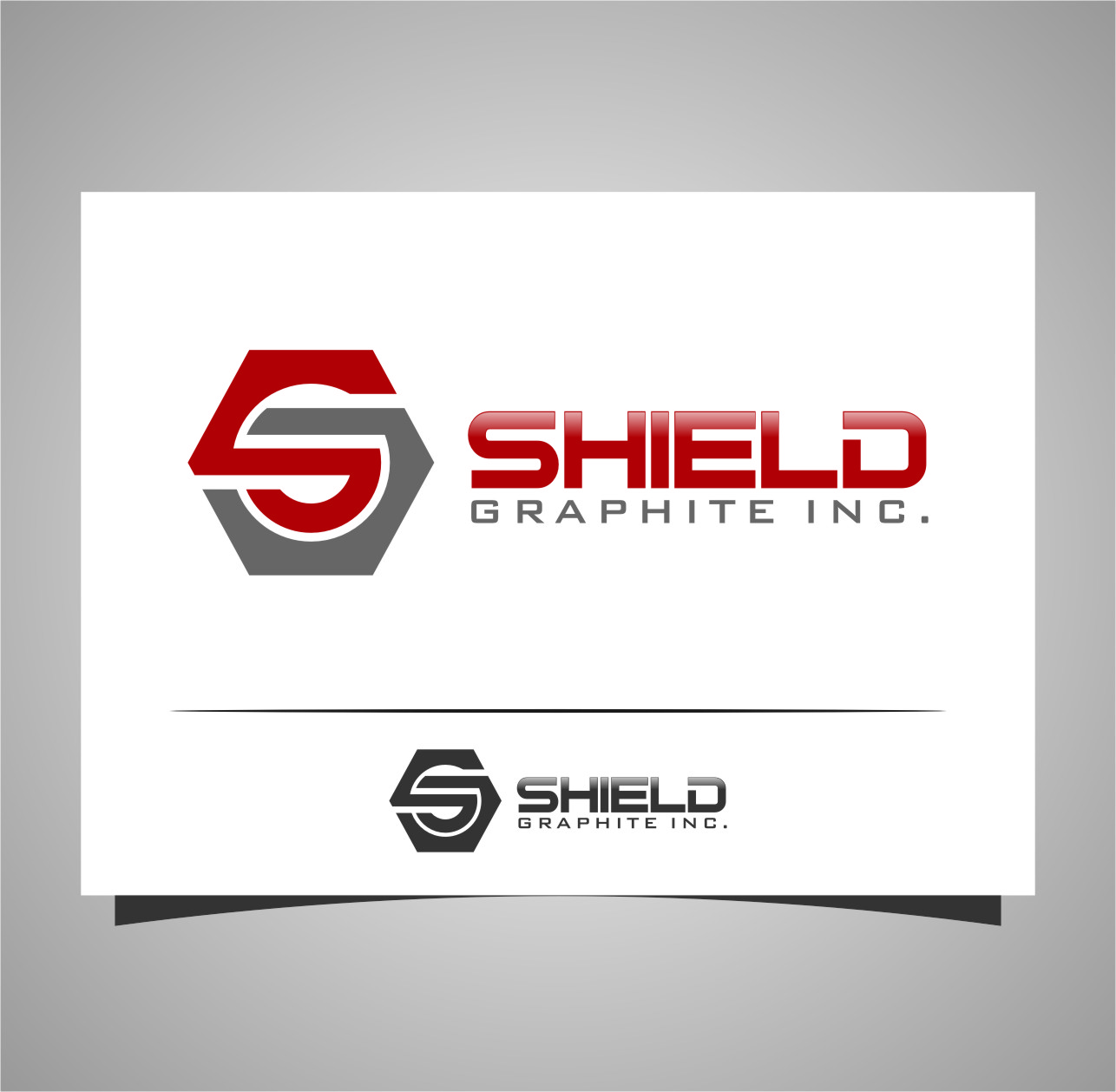 Logo Design by RasYa Muhammad Athaya - Entry No. 101 in the Logo Design Contest Imaginative Logo Design for Shield Graphite Inc..