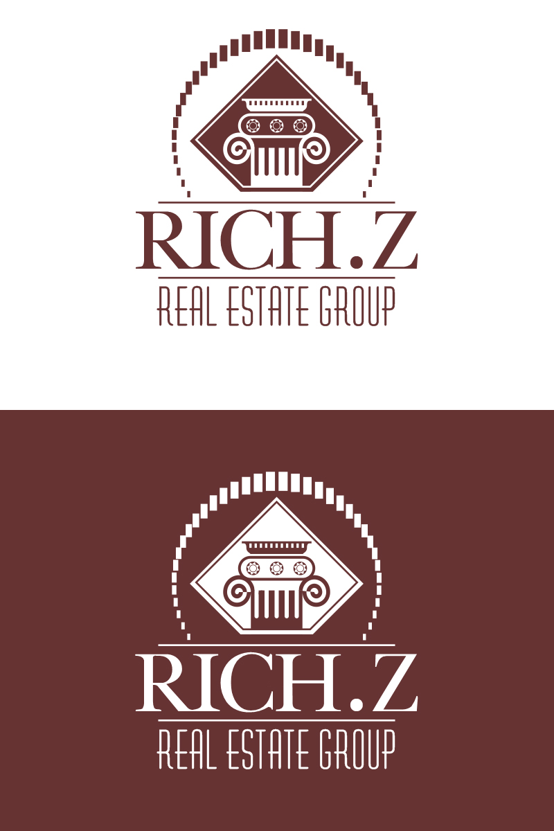 Logo Design by Indika Kiriella - Entry No. 84 in the Logo Design Contest The Rich Z. Real Estate Group Logo Design.