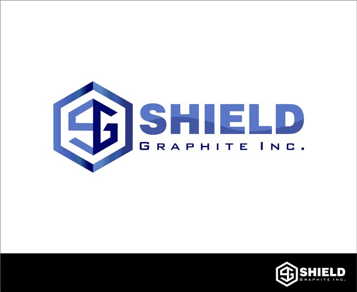 Logo Design by Mhon_Rose - Entry No. 104 in the Logo Design Contest Imaginative Logo Design for Shield Graphite Inc..