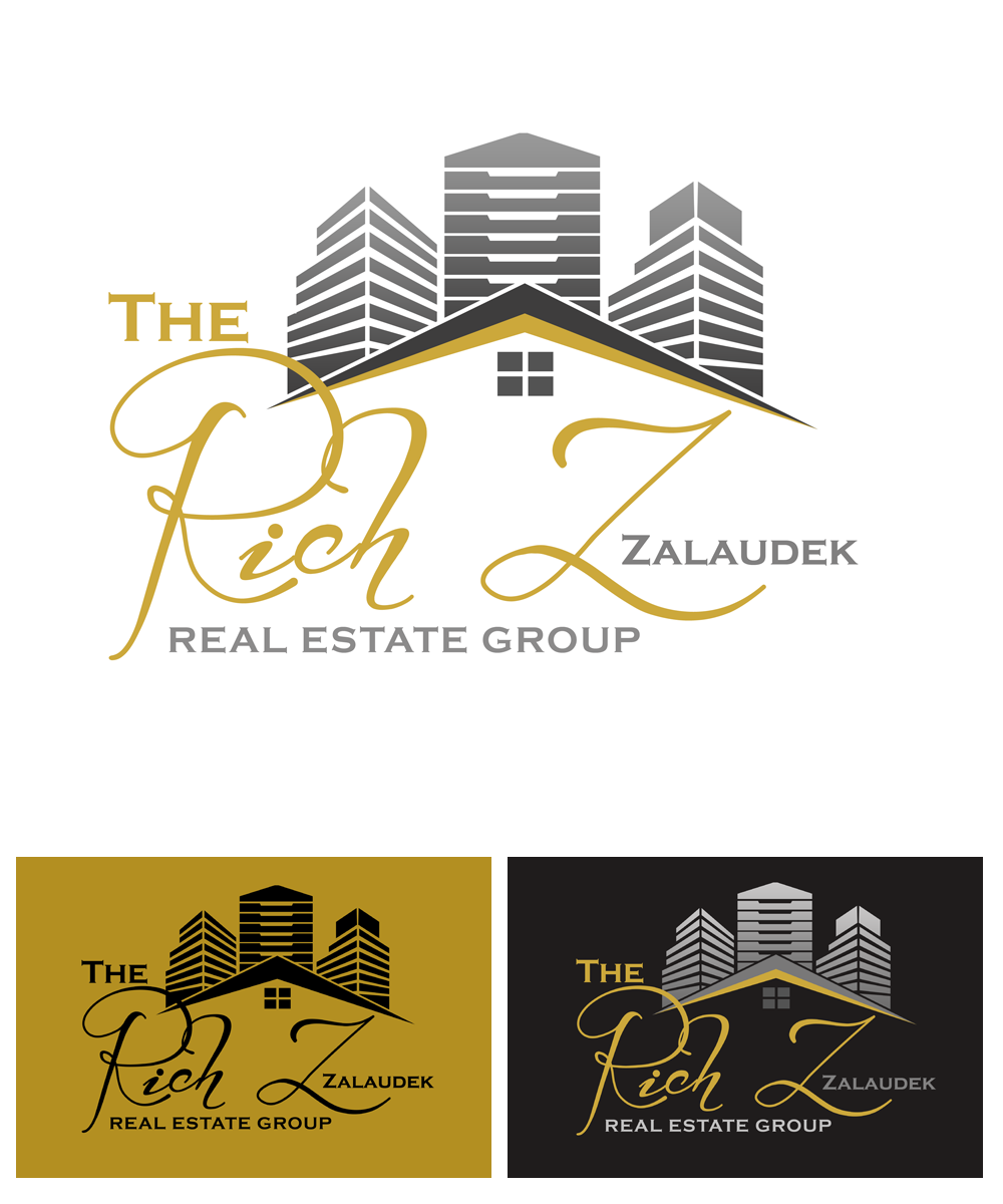 Logo Design by Private User - Entry No. 88 in the Logo Design Contest The Rich Z. Real Estate Group Logo Design.