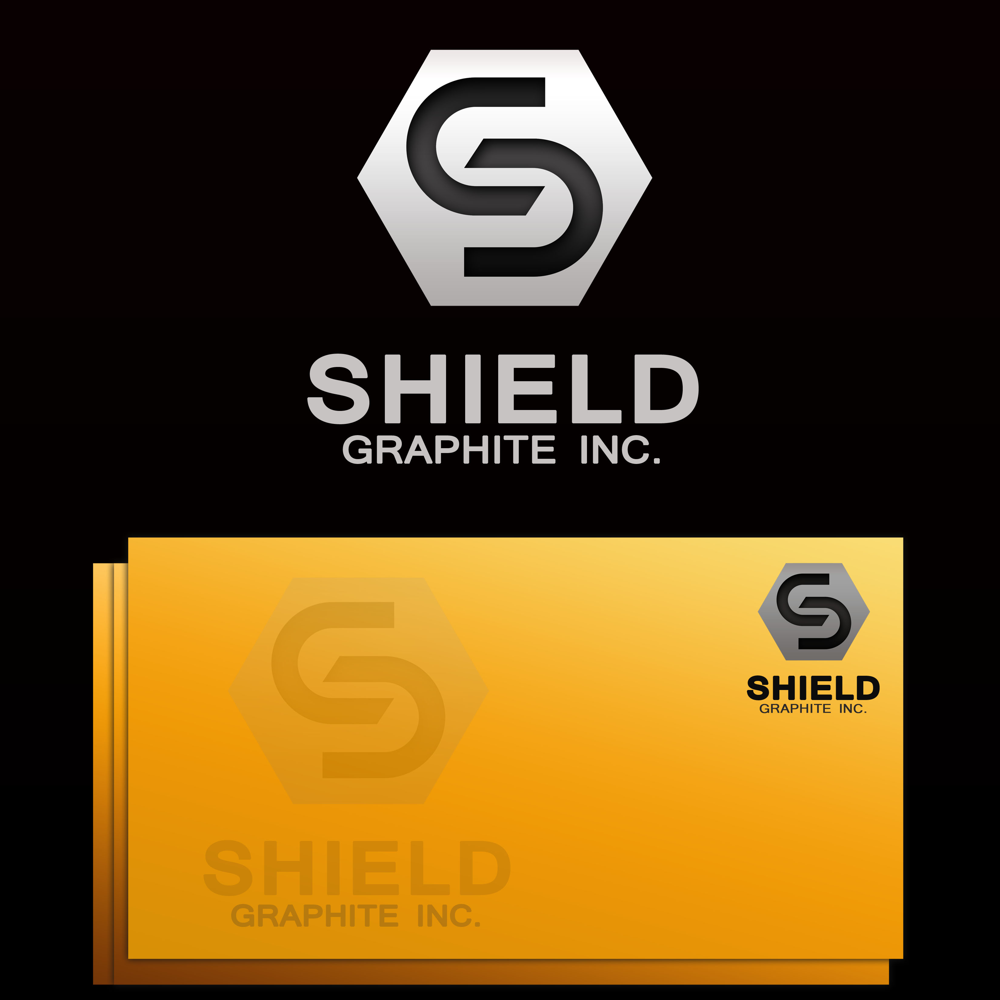 Logo Design by Allan Esclamado - Entry No. 106 in the Logo Design Contest Imaginative Logo Design for Shield Graphite Inc..