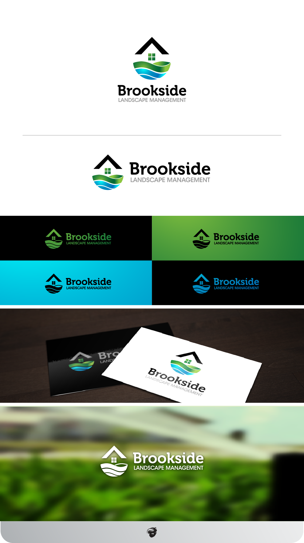 Logo Design by zesthar - Entry No. 161 in the Logo Design Contest New Logo Design for Brookside Landscape Management.