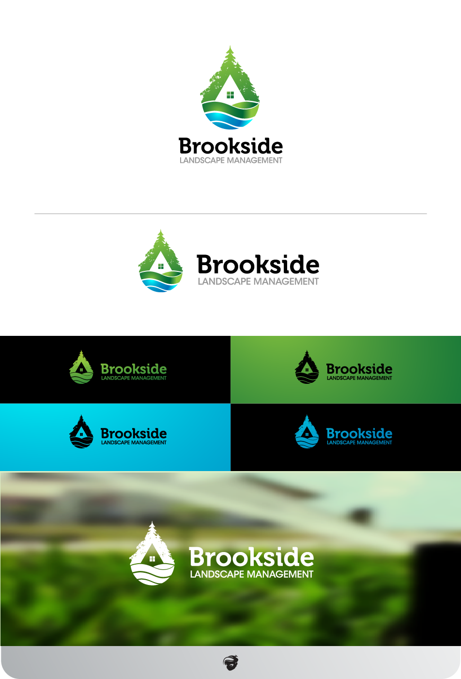 Logo Design by zesthar - Entry No. 162 in the Logo Design Contest New Logo Design for Brookside Landscape Management.