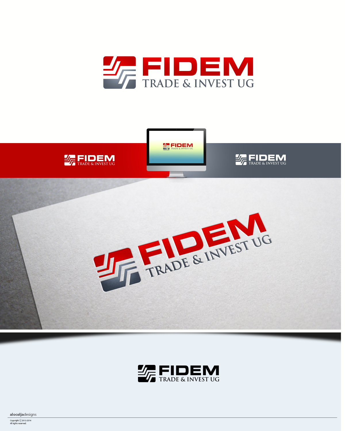 Logo Design by alocelja - Entry No. 645 in the Logo Design Contest Professional Logo Design for FIDEM Trade & Invest UG.