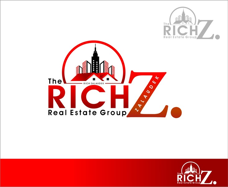 Logo Design by Mhon_Rose - Entry No. 89 in the Logo Design Contest The Rich Z. Real Estate Group Logo Design.
