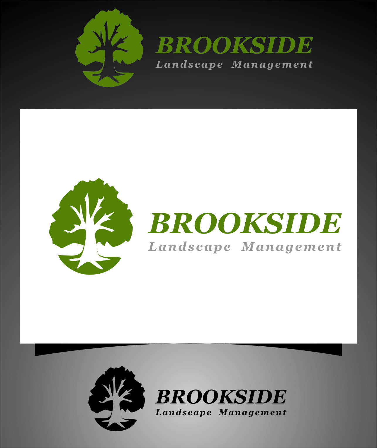 Logo Design by Ngepet_art - Entry No. 163 in the Logo Design Contest New Logo Design for Brookside Landscape Management.