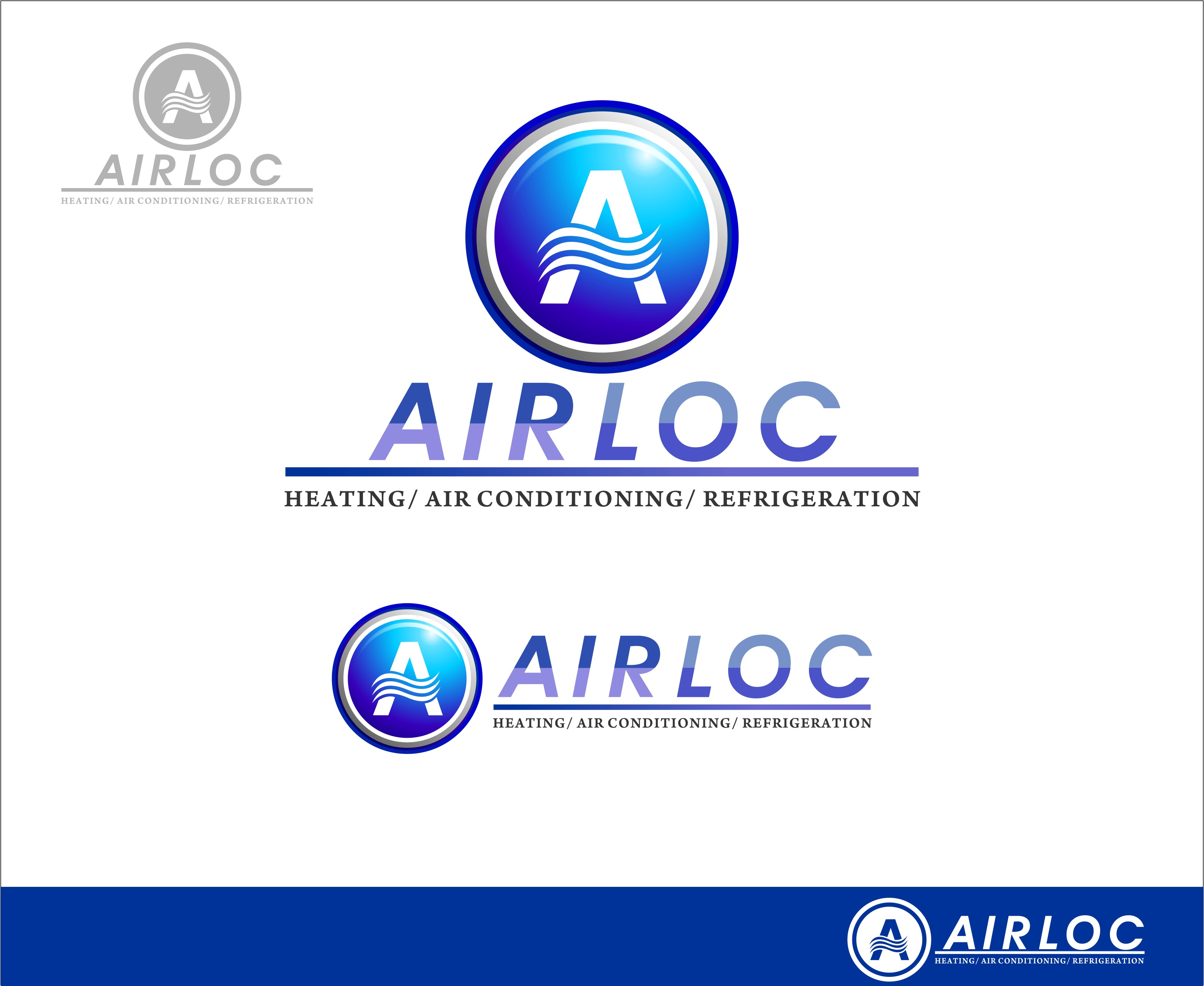 Logo Design by Mhon_Rose - Entry No. 45 in the Logo Design Contest Airloc Logo Design.