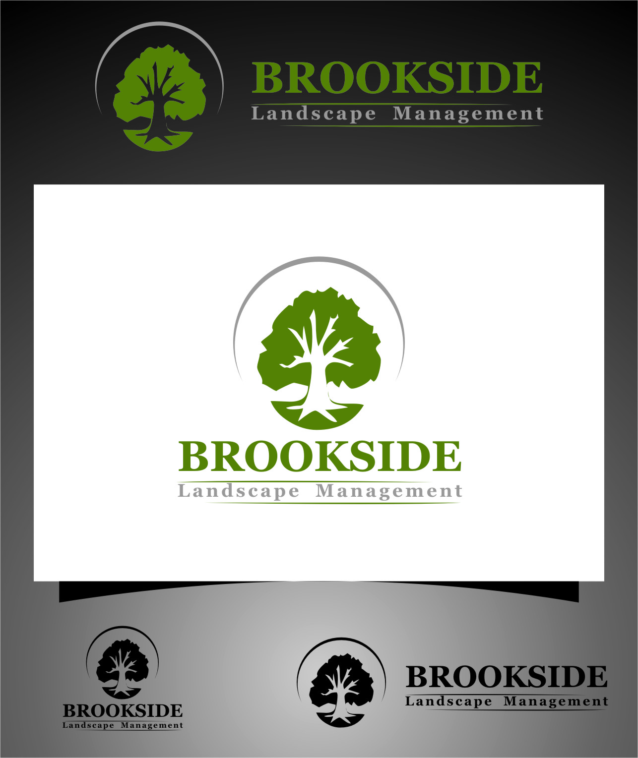 Logo Design by RasYa Muhammad Athaya - Entry No. 165 in the Logo Design Contest New Logo Design for Brookside Landscape Management.