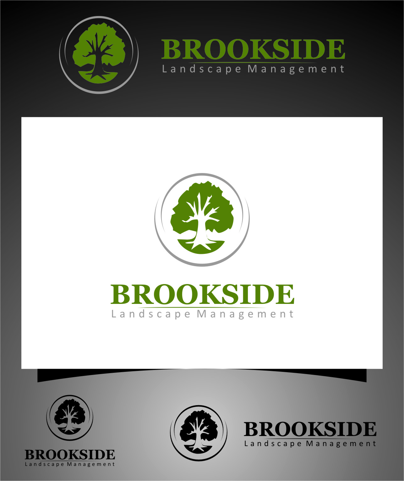 Logo Design by RasYa Muhammad Athaya - Entry No. 167 in the Logo Design Contest New Logo Design for Brookside Landscape Management.