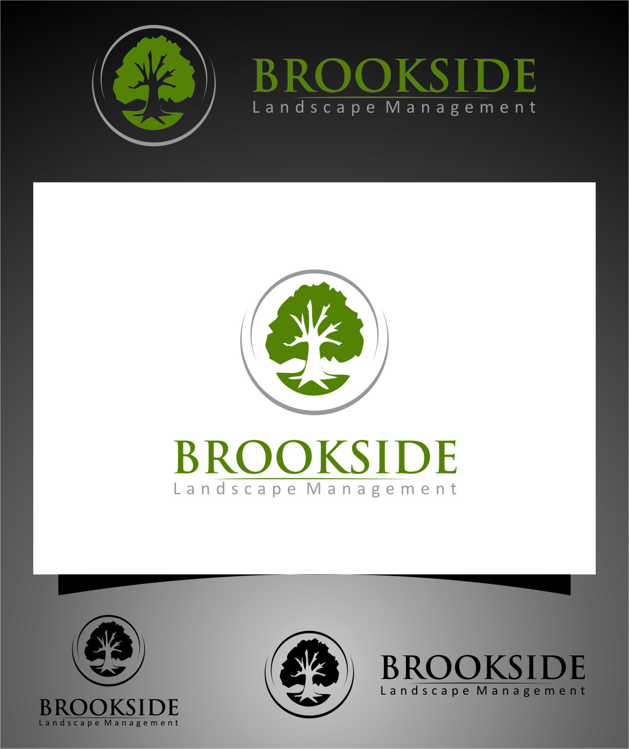 Logo Design by RasYa Muhammad Athaya - Entry No. 168 in the Logo Design Contest New Logo Design for Brookside Landscape Management.