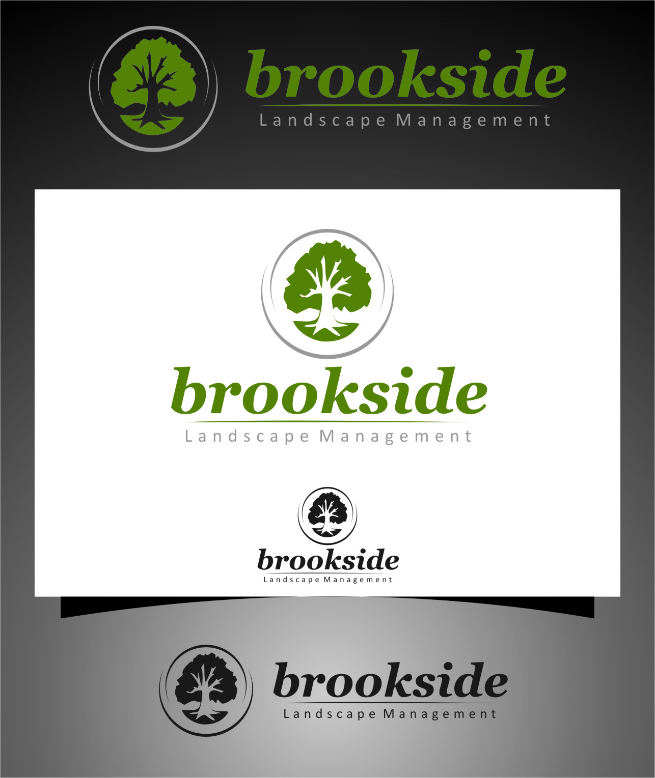 Logo Design by Ngepet_art - Entry No. 169 in the Logo Design Contest New Logo Design for Brookside Landscape Management.