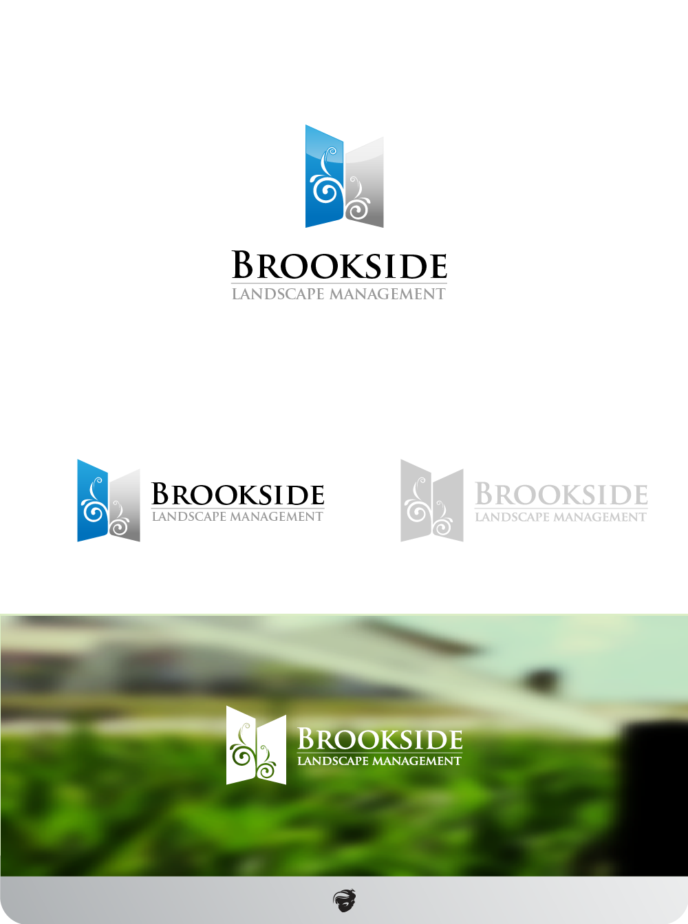 Logo Design by zesthar - Entry No. 171 in the Logo Design Contest New Logo Design for Brookside Landscape Management.