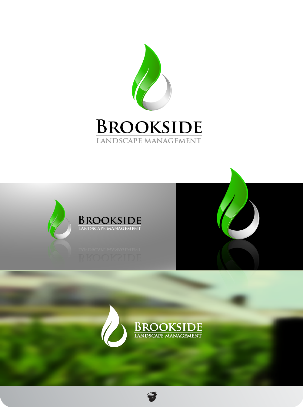 Logo Design by zesthar - Entry No. 173 in the Logo Design Contest New Logo Design for Brookside Landscape Management.